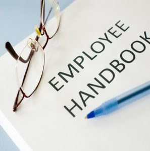 This is an image of an Employee Handbook.